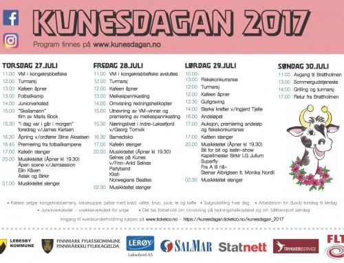 Prisliste Kunesdagan 2017